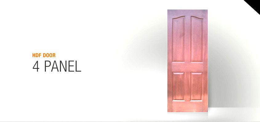 Excellent Door Pintu HDF 4 Panel